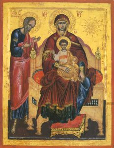 Icon of the Theotokos Enthroned with St John the Theologian – T67