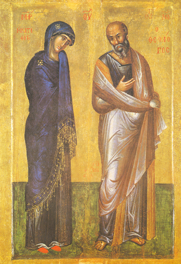 Icon of the Theotokos with St. John the Theologian – T89