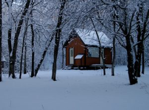 Winter View of Monastic Cell in Skete Back Valley