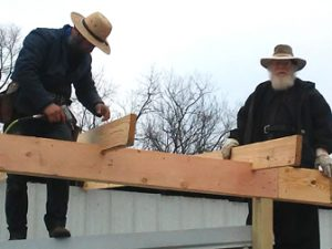 An Amish and Monastic Roofing Crew, Dec. 2020