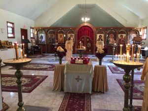 The Inside of St. Nicholas Church at Holy Transfiguration