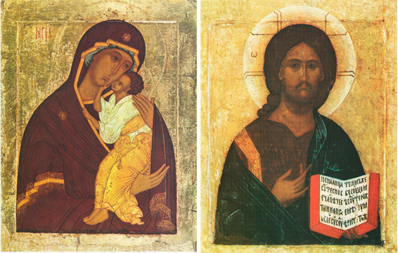 Icons of the Theotokos of Yaroslavl & Christ the Saviour – T03 & J04