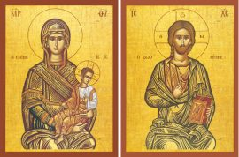"""Theotokos """"The Protector"""" & Christ """"The Life-Giver"""" – T12 & J14"""