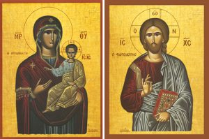 "Icons of the Panagia ""Golden Spring"" and Christ ""The Light-Giver"" – T46 & J36"