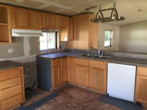 Interior of the Kitchen of the New Guest House Before It Is Moved
