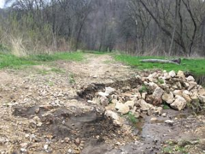 Damaged Road to the Back Valley